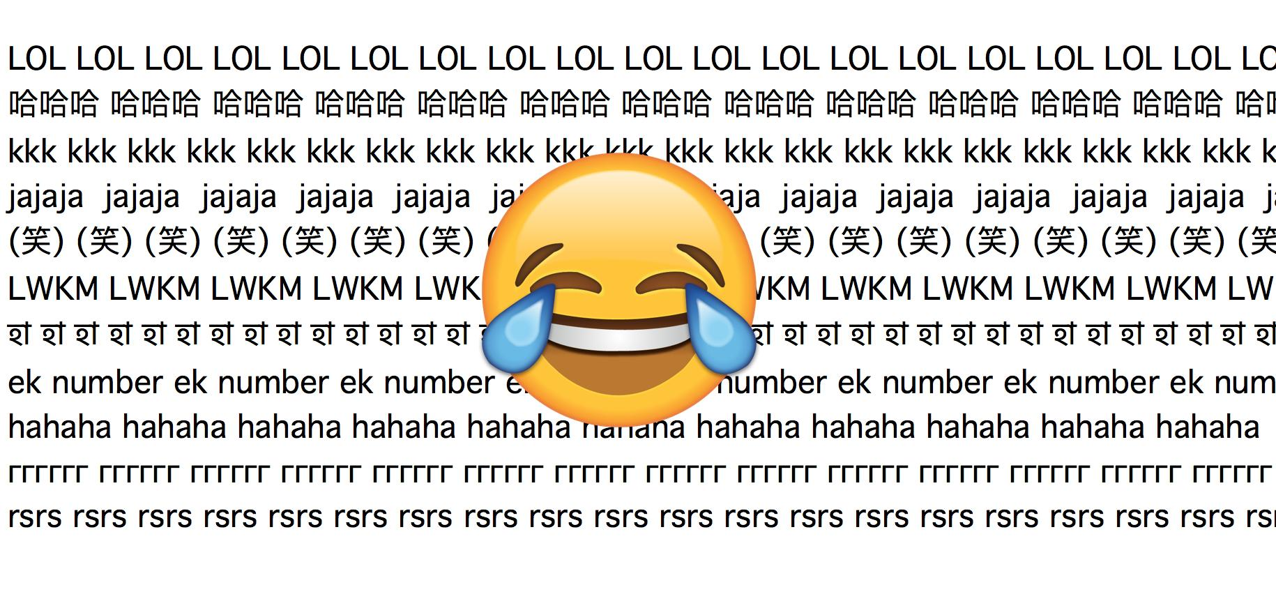 I Say LOL, You Say Ek Number: How People Around The World Laugh Online