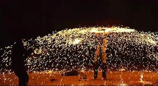 The Slo Mo Guys Explode Millions Of Sparks Across The Night Time Sky