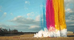 A Massive Wall Of Daytime Fireworks Exploding In 4K Slow Motion