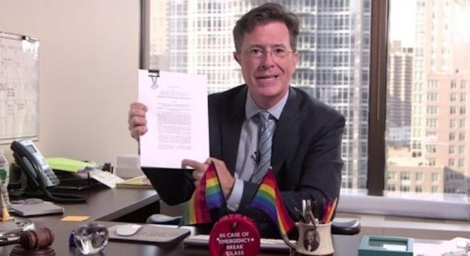 Advise you colbert gay marriage something also