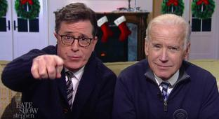 Joe Biden Flirts With A Presidential Run And Delivers A Family Pep Talk On 'Colbert'