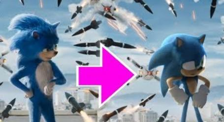 Heroic Animator Changes The Weird Looking Sonic The Hedgehog In The Movie Trailer To The Cartoon One We All Know And Love Digg