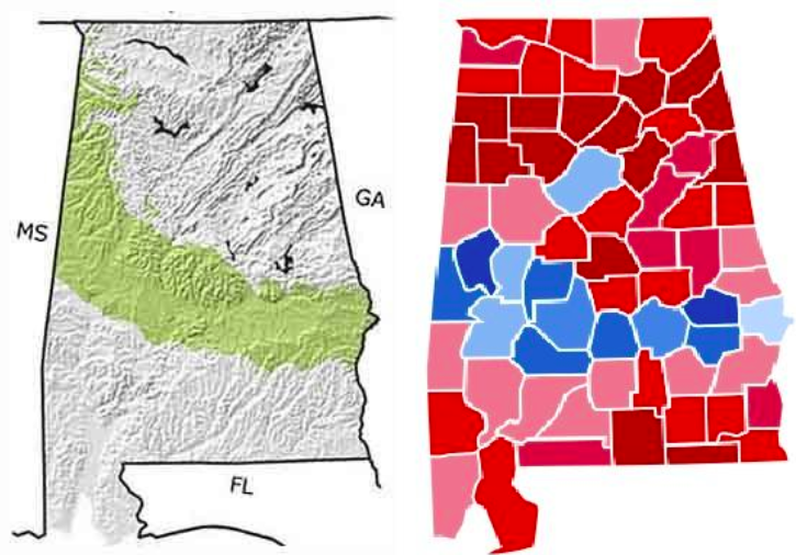 The Eerie Link Between A Map Of Alabama During The ...
