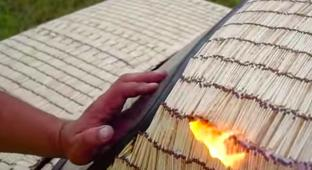 What Happens When You Stick 500,000 Matches To A Lada And Then Light It On Fire