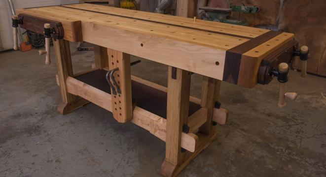 Master Carpenter Constructs The Most Beautiful Workbench You Ll Ever See
