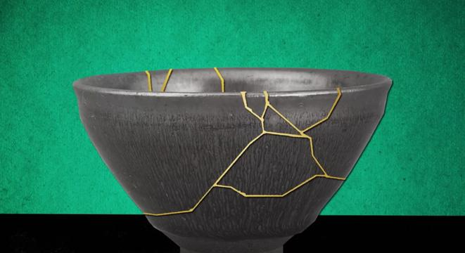 The Japanese Art Of Repairing Broken Pottery With Gold Is About Far