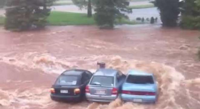 Footage Showing Just How Fast A Flash Flood Can Get Out Of Hand
