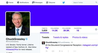 What's Up With Chuck Grassley's Twitter Feed? (2015)