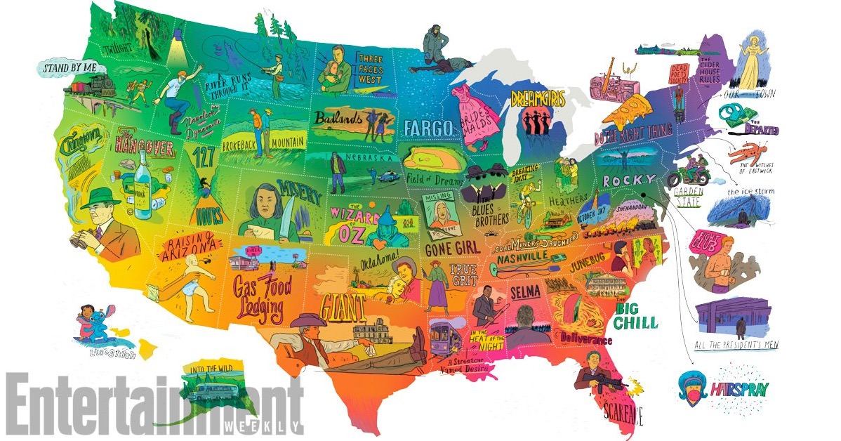 You Ll Either Love Or Hate Ew S Map Of Every State S Most Iconic Movie Digg