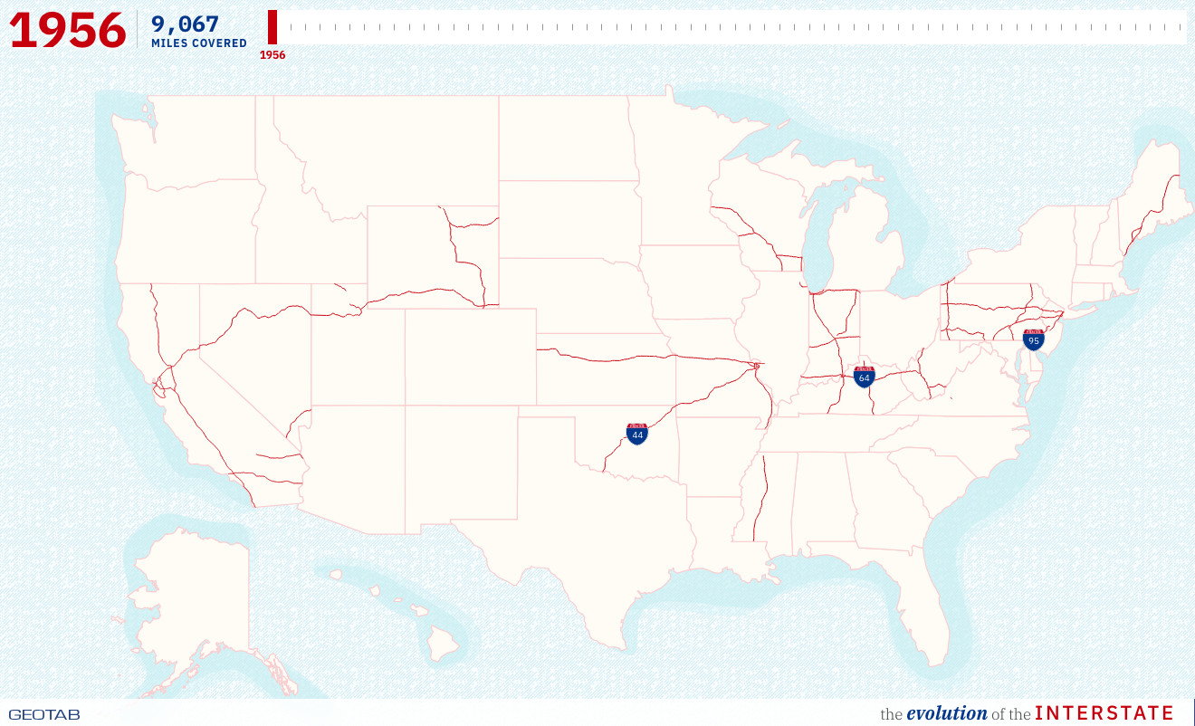The Evolution Of The US Interstate Through Time, Mapped - Digg