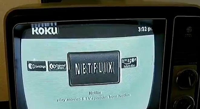 Guy Plugs His Roku Into An Old Black And White Television Set And Steps Into Another Dimension