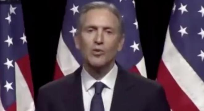Howard Schultz Gives Speech, Has To Ask Audience To Clap