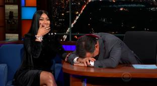 Nicki Minaj Has A Long Conversation With Colbert, Decides To Put Him In A Song