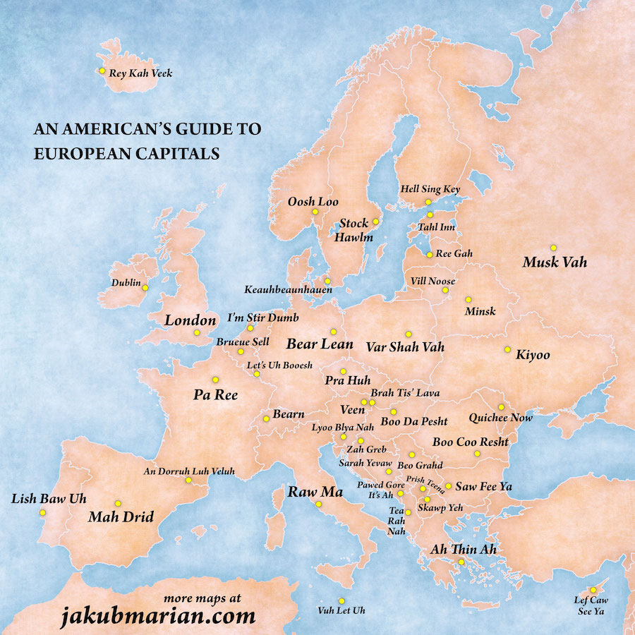 Flipboard: This Map Is A Fun Guide On How To Pronounce European ...
