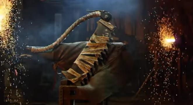 Blacksmiths Forge The Huge Saw Cleaver From Bloodborne Digg