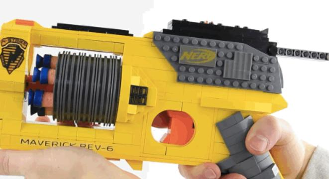 This LEGO-Built Nerf Gun Replica Is Fully Operational