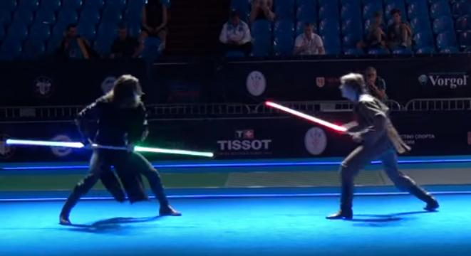 which would win in a fight a lightsaber or a halo energy sword
