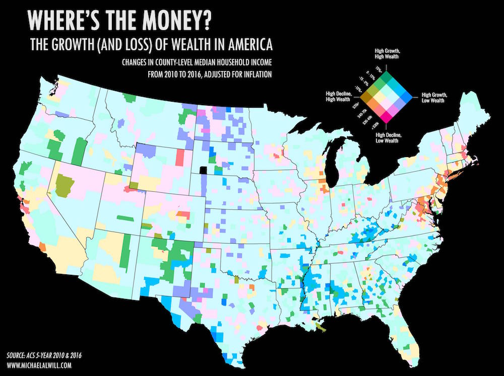 Which Parts Of The US Are Losing And Gaining Wealth The Fastest ...