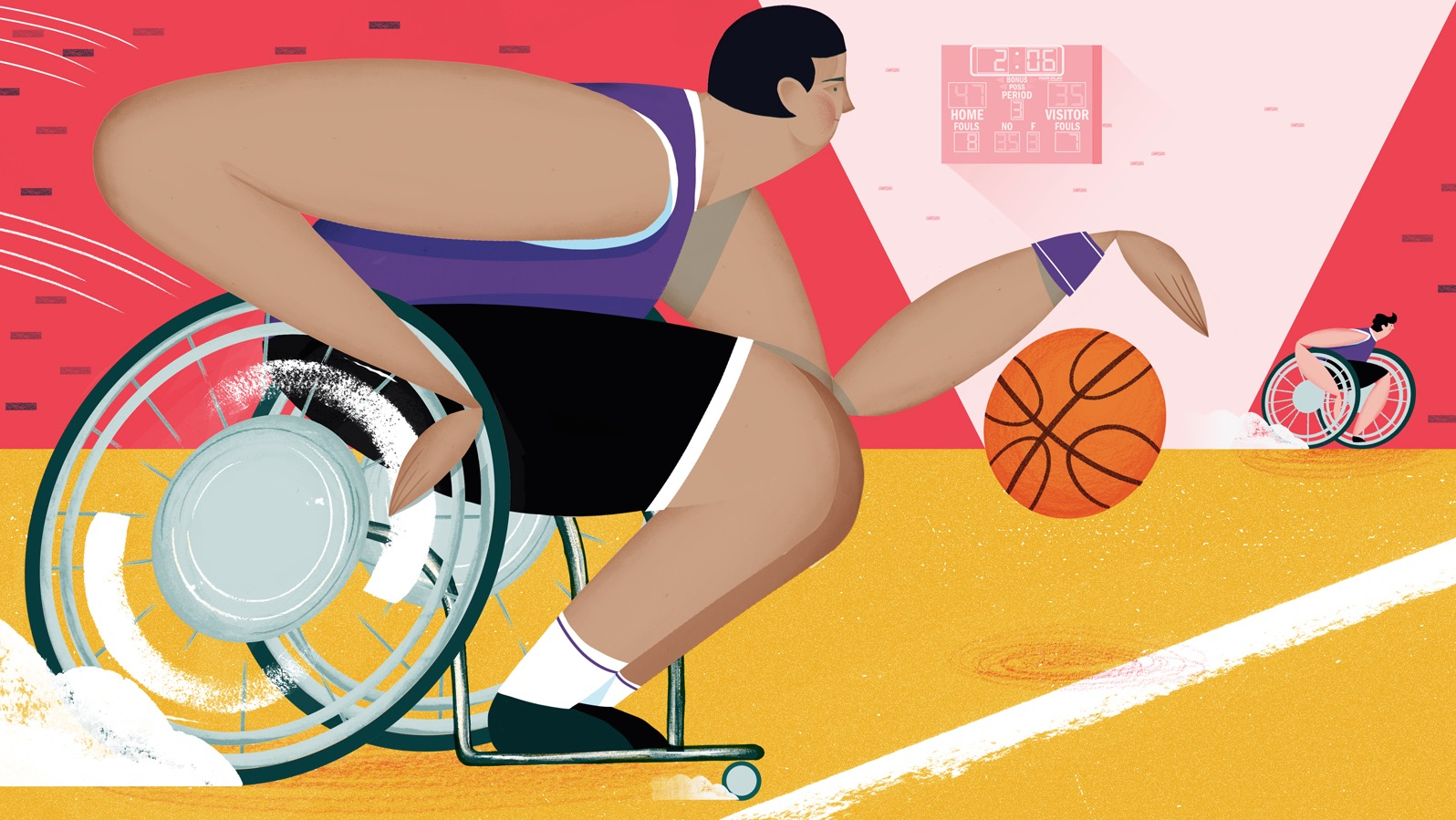 why are able bodied people playing wheelchair basketball digg