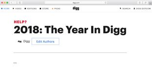 You Are A Digg Editor