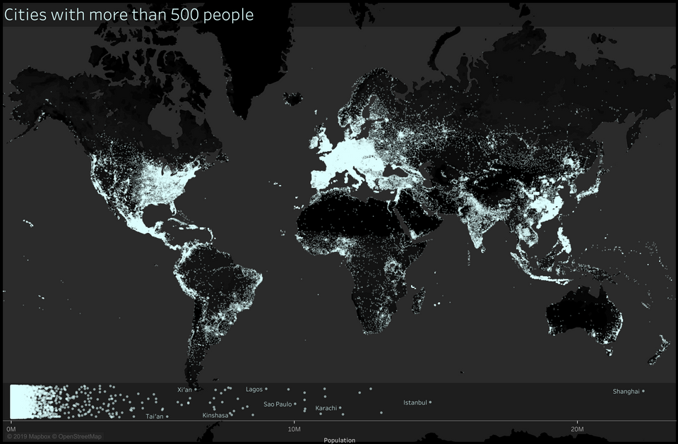 This World Map Showing Cities With Over 500 People Is Very ... on map of cities fl, map of cities mt, map of cities va, map of cities ar, map of cities tn, map of cities france, map of cities united states, map of cities ms,