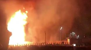 Dutch New Year's Beach Bonfire Gets Wildly Out Of Control