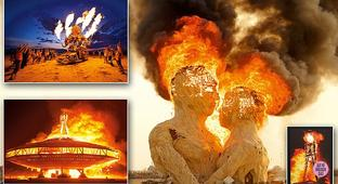 Sixteen years up in flames: Photographer shares his striking pictures of Burning Man's ephemeral art in new book