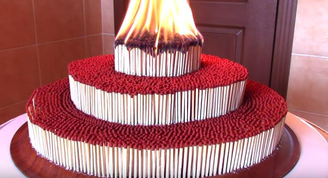 This Three Tiered Match Tower Is What All Birthday Cakes Should Aspire To Be