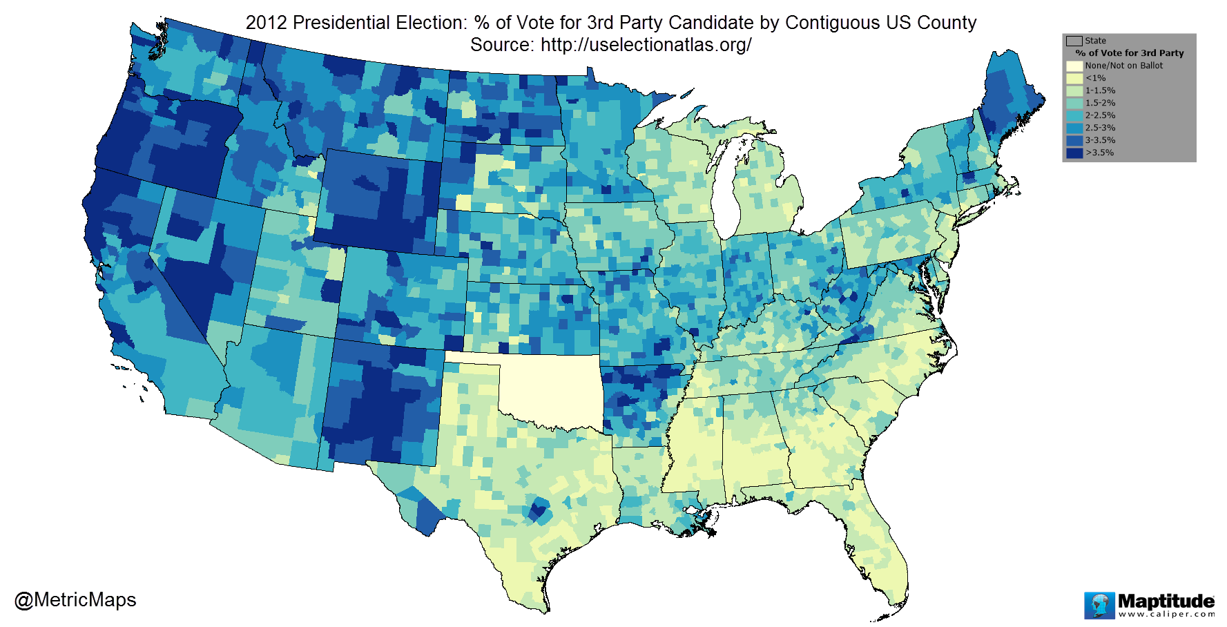 Where People Vote For 3rd Party Candidates - Digg
