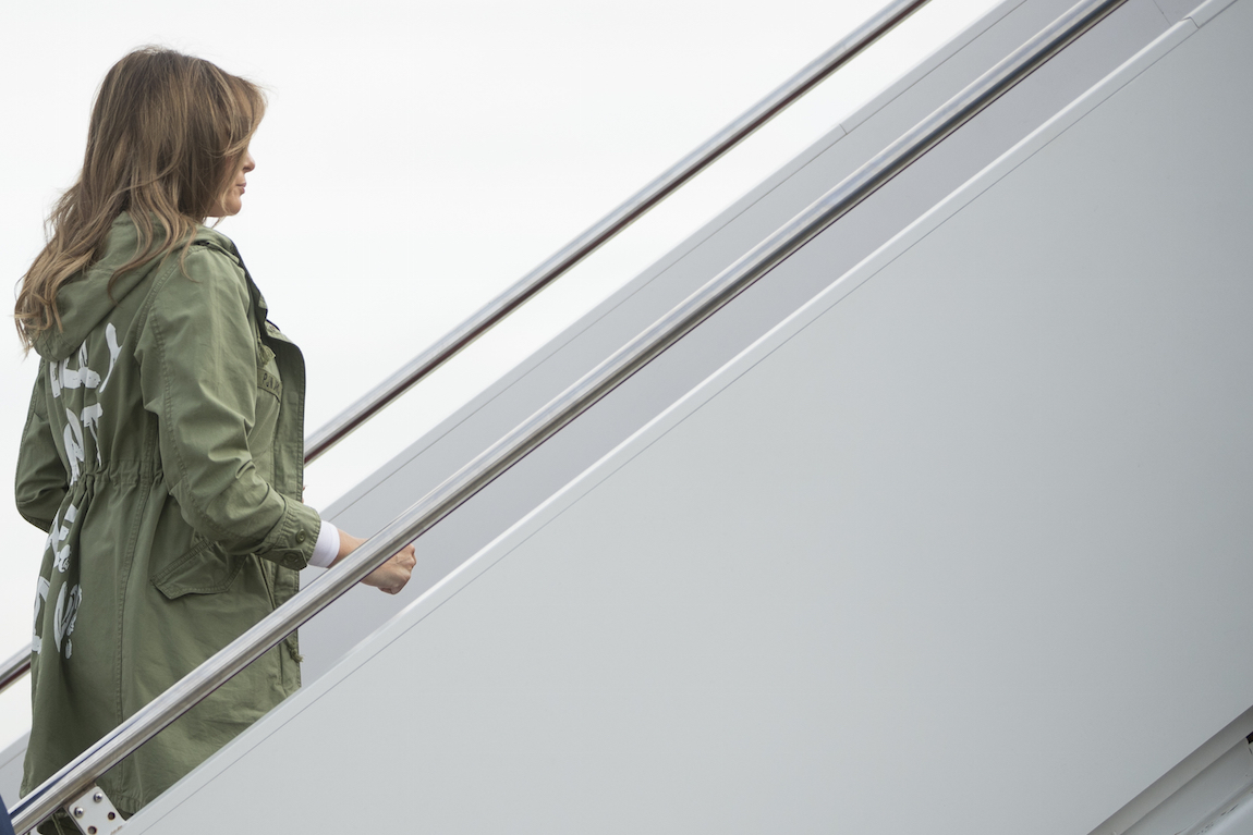 Melania Trump's 'I don't care' jacket causes a stir