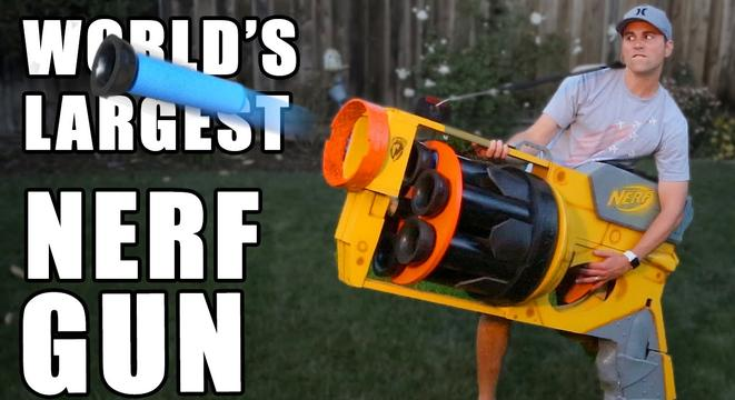 The World's Largest Nerf Gun Is Very, Very Large And Can Shatter Glass -  Digg