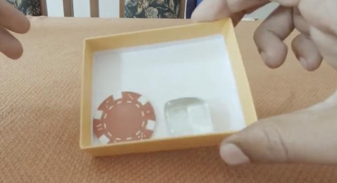 Magician Turns A Poker Chip And Piece Of Glass Into A Dice And We Are Completely Baffled