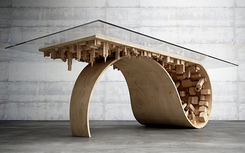 badass 'inception' coffee table is like something out of a dream