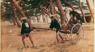 Transport In Japan More Than 100 Years Ago