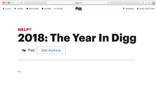 Play 'You Are A Digg Editor': A Fun Game About Working For Digg