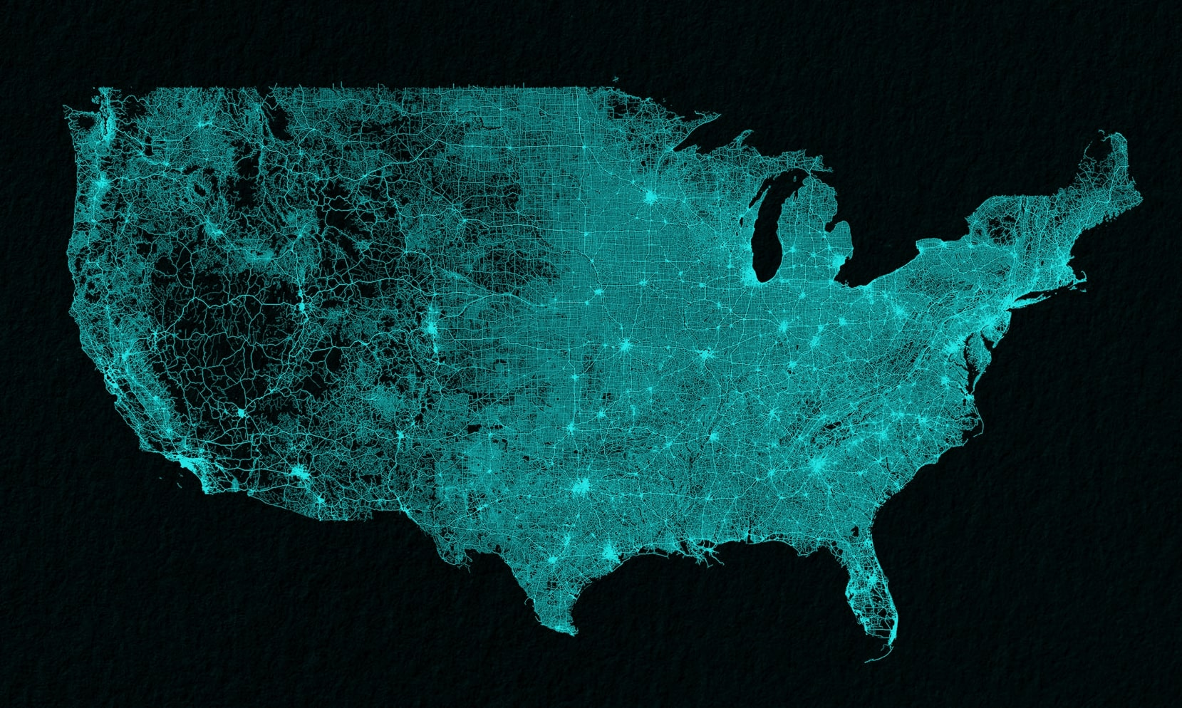A Beautiful Visualization Of All The Roads In The United States