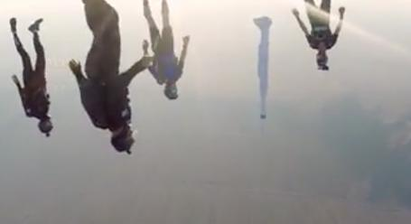 Sky Divers Take A Rusty Water Heater With Them On A Jump - Digg
