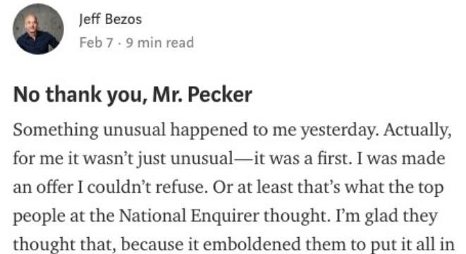 Latest Defence Updates & Latest IT news: Jeff Bezos Takes To