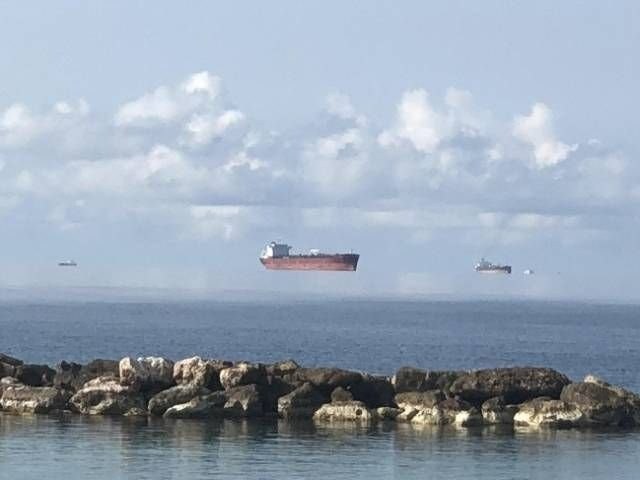 Illusion Makes It Look Like Massive Ships Are Floating In