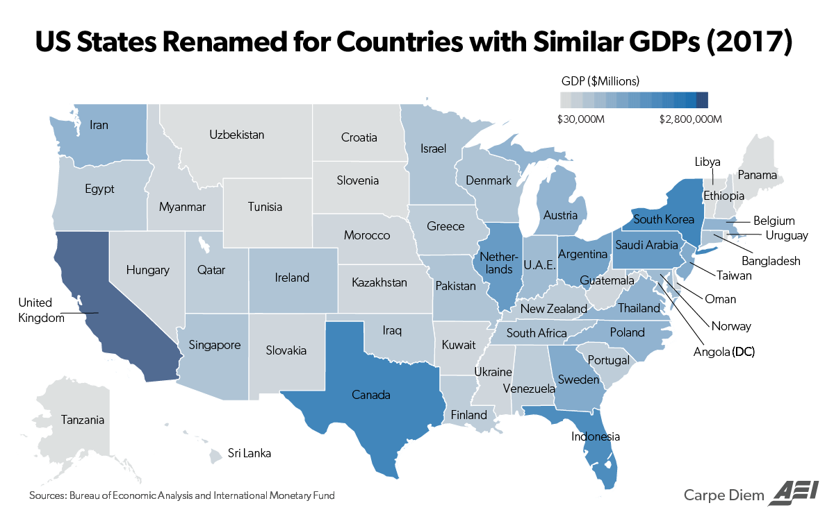 If Each State\'s GDP Was A Comparable Foreign Country ...