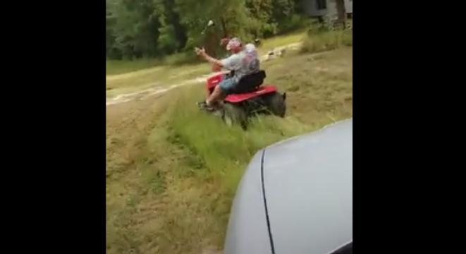 Mean Son Scares Dad So Bad He Falls Off His Tractor - Digg