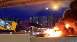 Tesla Model 3 Explodes In Flames After Reportedly Crashing On Autopilot Mode