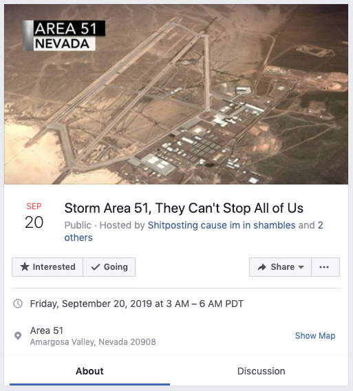 Storm Area 51: A Facebook event making waves on the internet