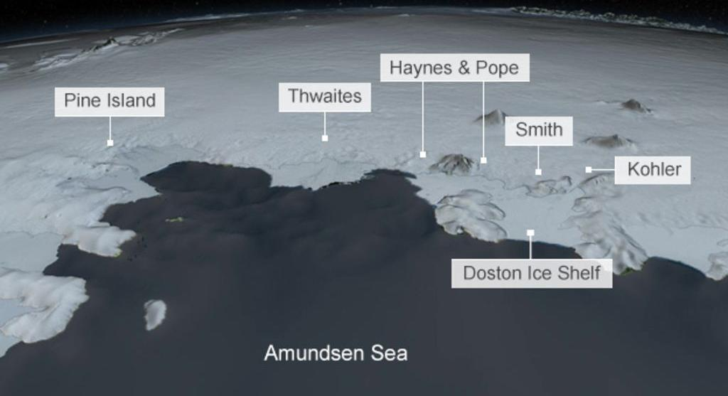 'Upside-down ice canyon' revealed
