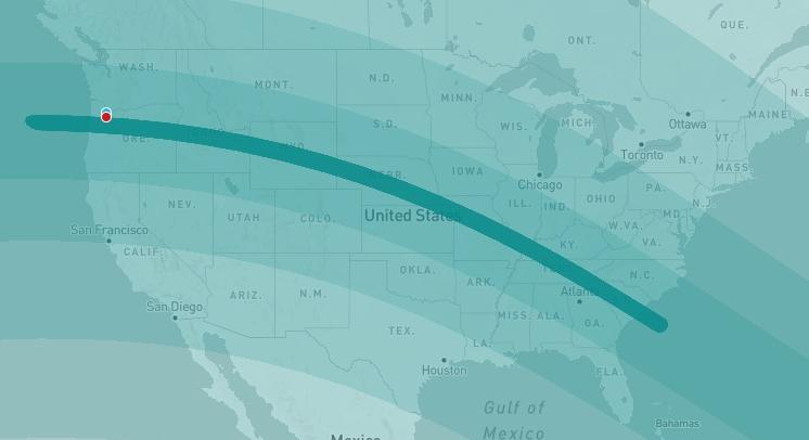 What Will The Us Once In A Century Solar Eclipse Look Like From