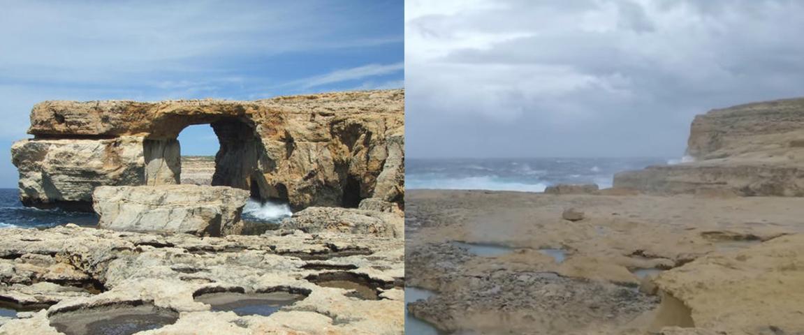 Malta S Famous Azure Window Has Collapsed Into The Sea Digg,White Kitchen Counter Backsplash Ideas