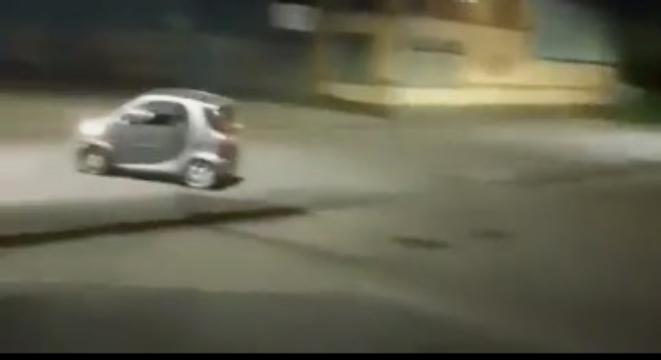 Guy Tries To Drift In A Smart Car, With Predictable Results - Digg