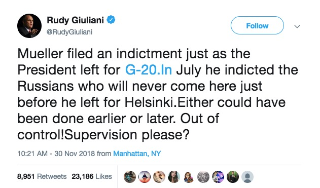 Rudy Giuliani blames Twitter for his spectacular typo fail