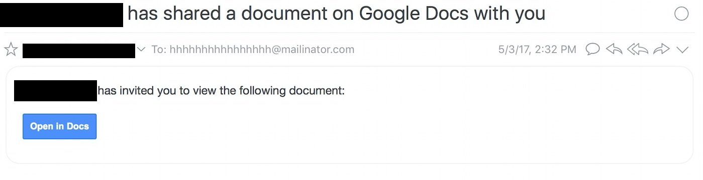 Beware: A Massive Google Docs Phishing Scam Is Probably In