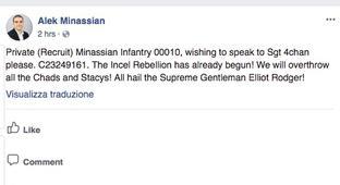 Toronto Van Suspect Wrote Facebook Post Announcing 'Incel Rebellion' Before Attack